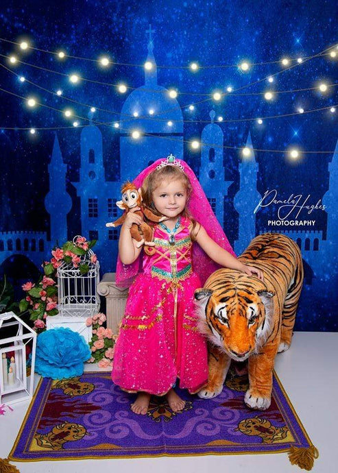 Kate Castle Starry Sky Backdrop for Children Photography Designed By Jerry_Sina
