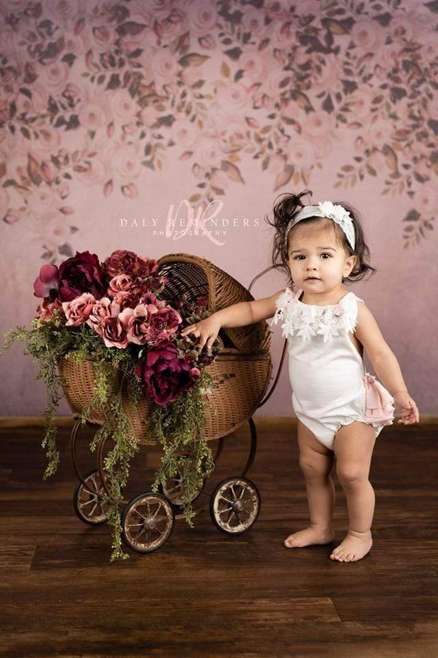 Kate Fine Art Floral Dark Pink Backdrop Designed By Jerry_Sina