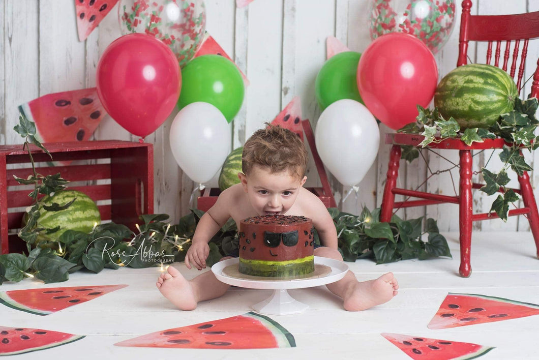 Kate Children Summer Cake Smash Watermelon Backdrop Designed By Rose Abbas