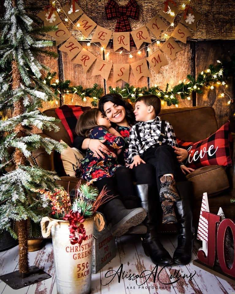 Load image into Gallery viewer, Kate Merry Christmas Wooden Backdrop Designed By AAE Photography