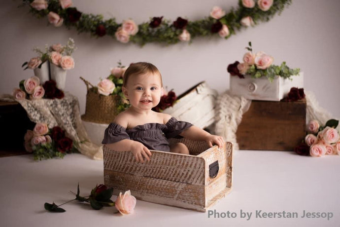 Kate Spring Rose Blooms Floral Backdrop Designed by Keerstan Jessop