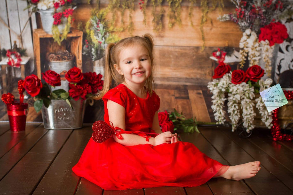 Kate Christmas Floral Rustic Backdrop Designed By Arica Kirby