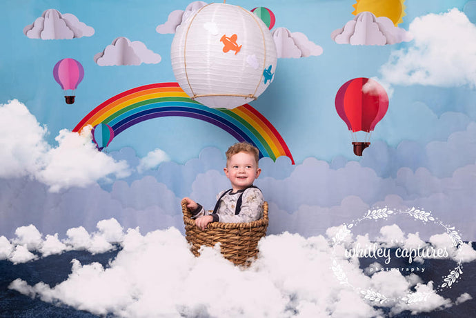 Kate Origami Hot Air Balloon Rainbow Cake Smash Backdrop Designed By Ava Lee
