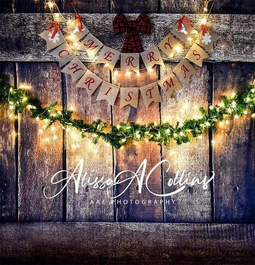 Kate Merry Christmas Wooden Backdrop Designed By AAE Photography