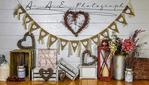Kate Valentine's Day Decorations Backdrop Designed by AAE Photography