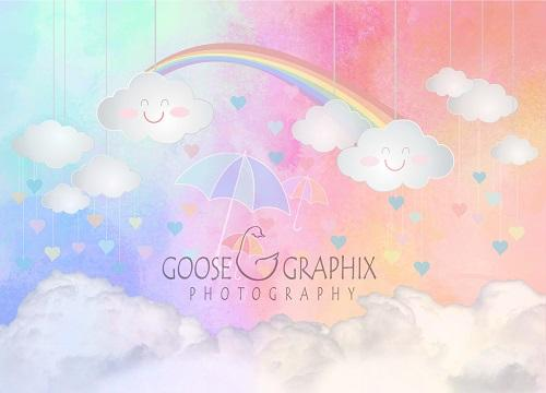 Kate Children Backdrop Rainbow Sky For Photography Designed by Amanda Moffatt