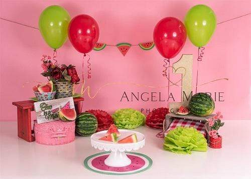 Kate 1st Birthday Watermelon for Children Backdrop Designed By Angela Marie Photography