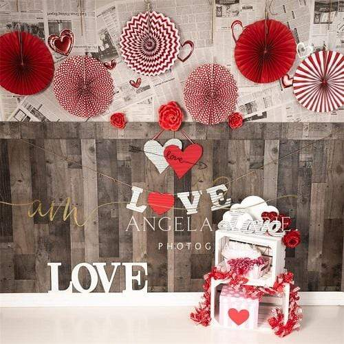 Kate Valentine's Day Love Decorations Backdrop Designed by Angela Marie Photography