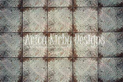 Kate Rusted White Tiles Backdrop Designed By Arica Kirby