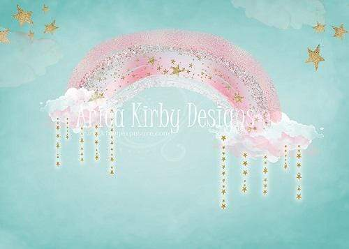 Kate Pink Rainbow Birthday Backdrop Designed By Arica Kirby
