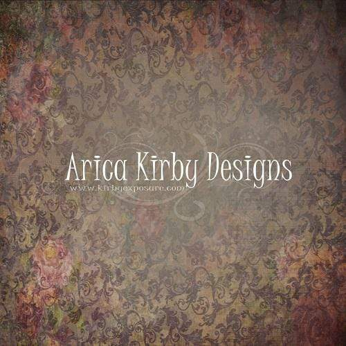 Kate Vintage Dark Floral Wall Backdrop designed by Arica Kirby