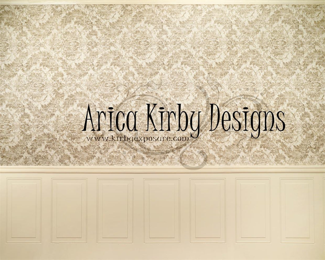 Kate Cream Brocade Wall Backdrop Designed by Arica Kirby