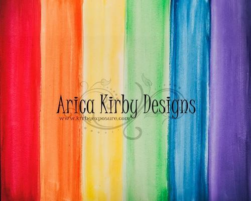 Kate Rainbow Watercolor Wall Backdrop Designed by Arica Kirby