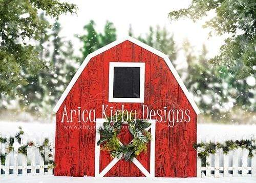 Kate Winter Red Barn Backdrop Designed By Arica Kirby