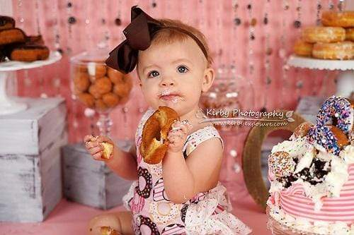 Kate Donuts Birthday Set Pink Girly Backdrop Designed By Arica Kirby
