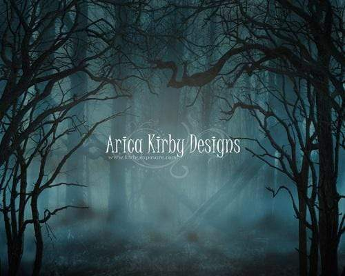 Kate Halloween Spooky Night Forest Backdrop Designed By Arica Kirby