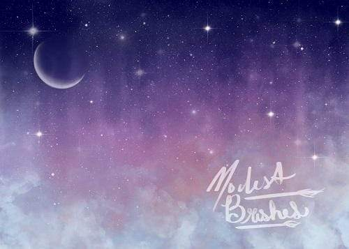 Kate Celestial Night Whimsy Backdrop Designed by Modest Brushes