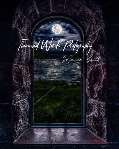 Kate Castle Window View Night Backdrop Designed by Marina Smith