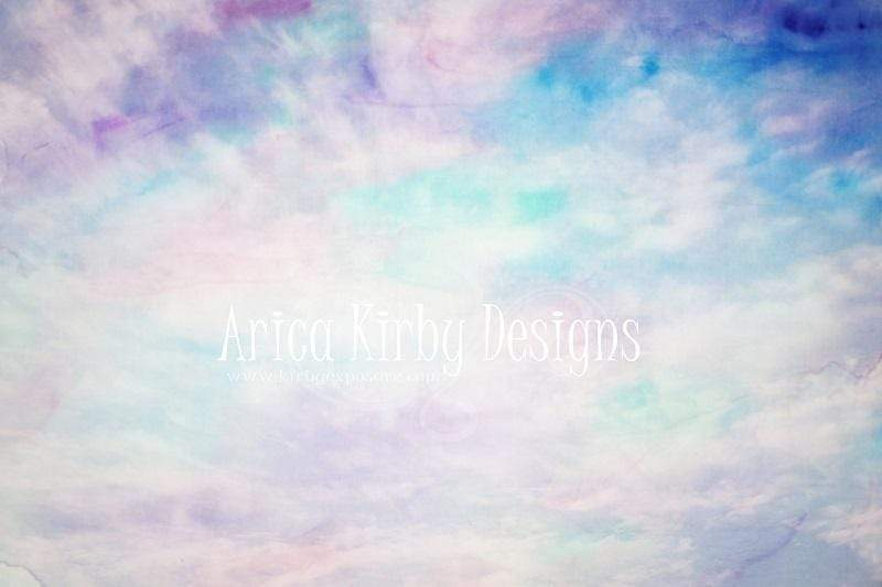 Load image into Gallery viewer, Kate Cotton Candy Colorful Clouds Children Backdrop designed by Arica Kirby