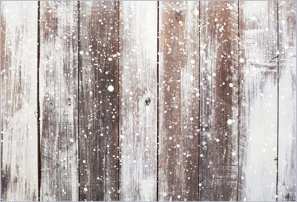 Kate Gray Snow wood rubber floor mat