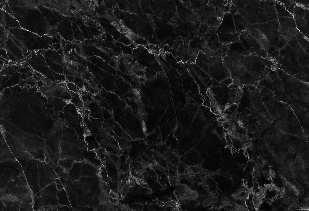 Kate Dark Black White Marble Stone Texture Computer Printed Rubber Floor Mat