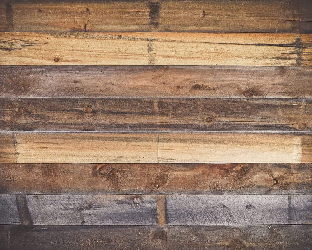Kate Rustic Barn Wall Wood Rubber Floor Mat