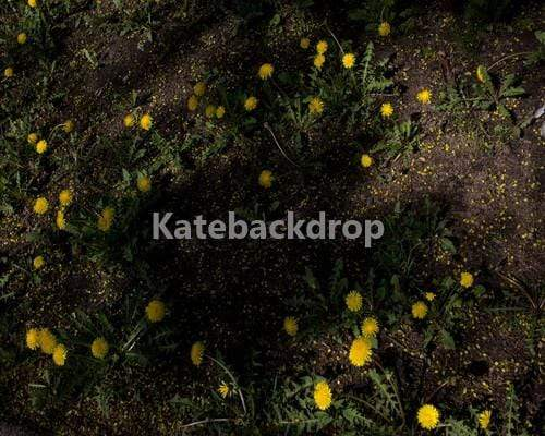 Kate Grassland with Yellow Flowers Rubber Floor Mat