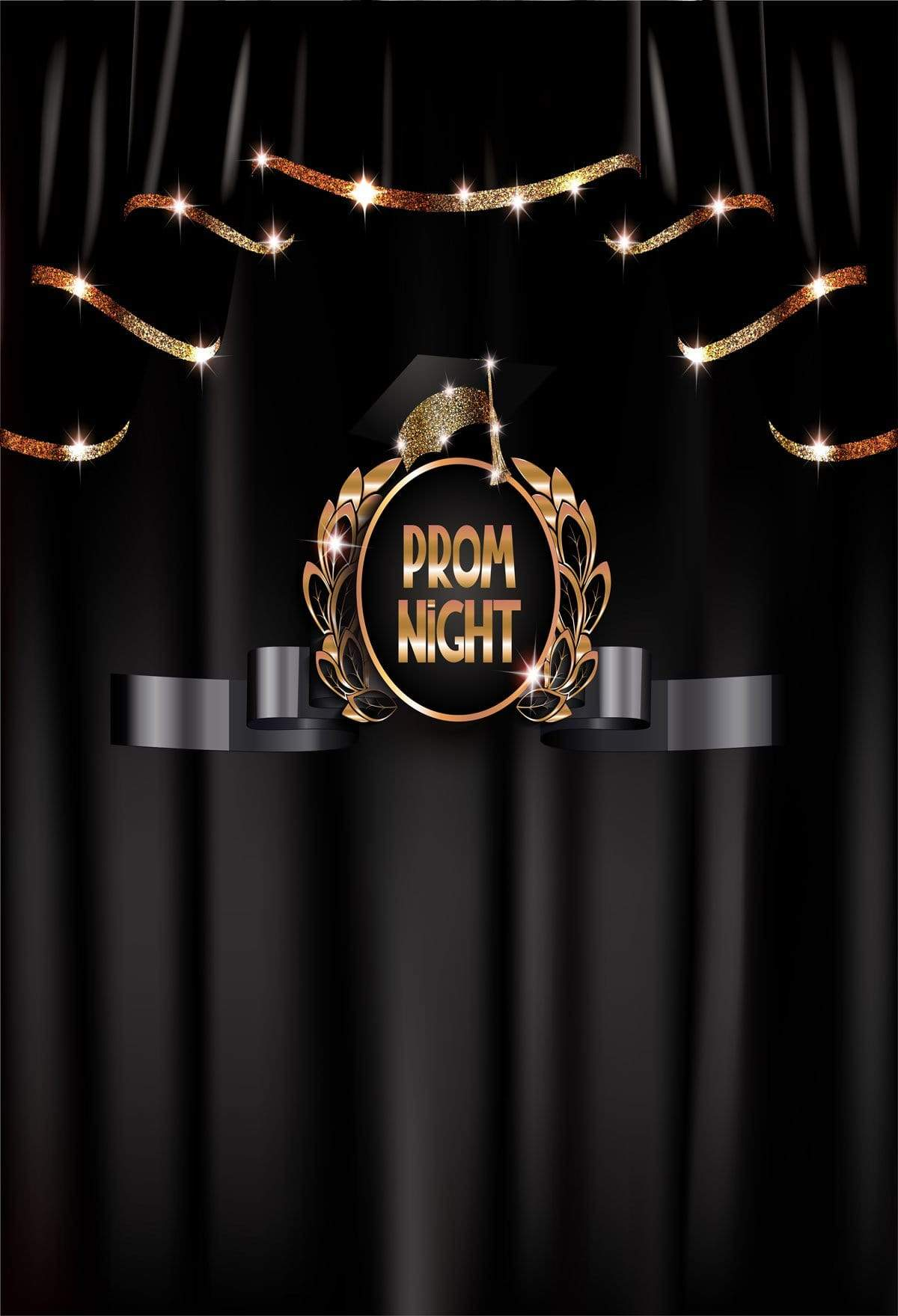 Load image into Gallery viewer, Kate Prom Night Graduation Backdrop Black Curtain Background for School