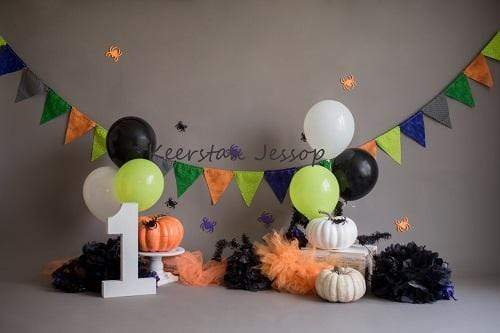 Kate Cake Smash Pumpkins Halloween Backdrop for Photography Designed by Keerstan Jessop