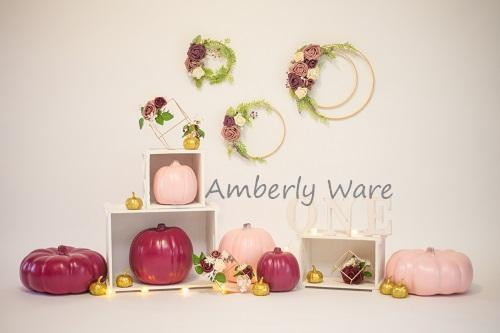 Kate 1st Birthday Pumpkins Backdrop for Photography Designed by Amberly Ware
