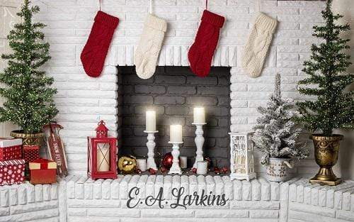 Kate Christmas Cozy Fireplace Backdrop Designed By Erin Larkins