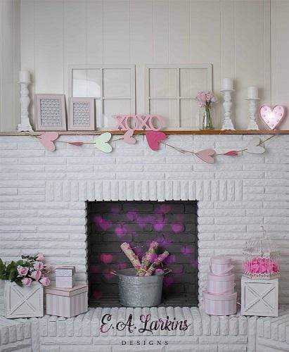 Kate Valentine¡¯s Day Firesplace Backdrop Designed by Erin Larkins