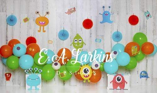 Kate Monster Party for Children Backdrop Designed By Erin Larkins
