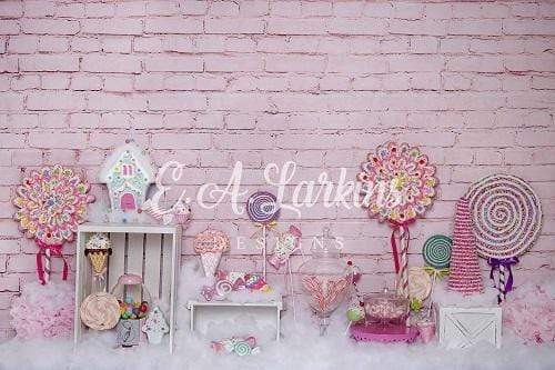 Kate Lollipop Pink Girly Backdrop for Photography Designed By Erin Larkins