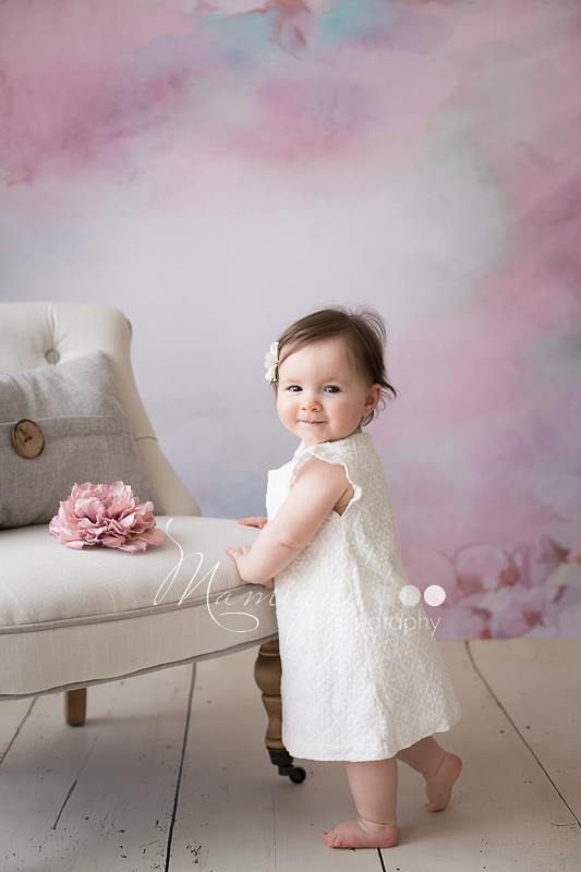 Load image into Gallery viewer, Katebackdrop£ºKate Abstract White Flower Pink Background Photography Backdrop