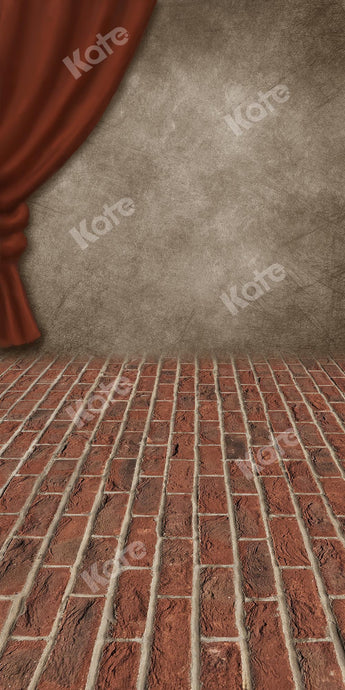 Kate Sweep Retro Stage Brick Floor Backdrop Designed by Chain Photography