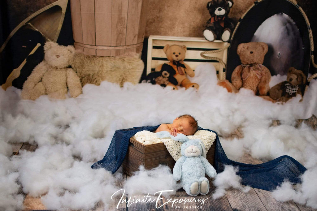Kate Teddies in Dreamland Backdrop for Photography Designed by Amanda Moffatt