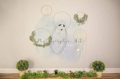 Kate Girly Boho Decorated Backdrop for Photography Designed by Jenna Onyia