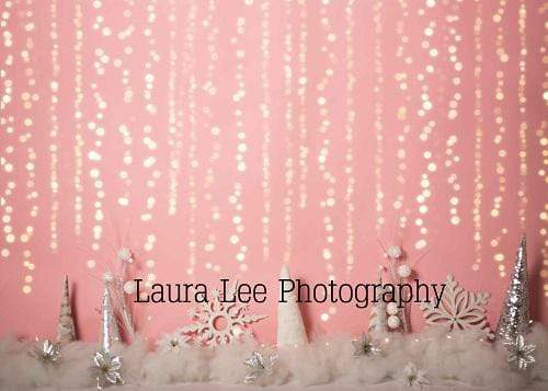 Kate Girly Winter Wonderland Pink Backdrop Designed by Laura Lee Photography