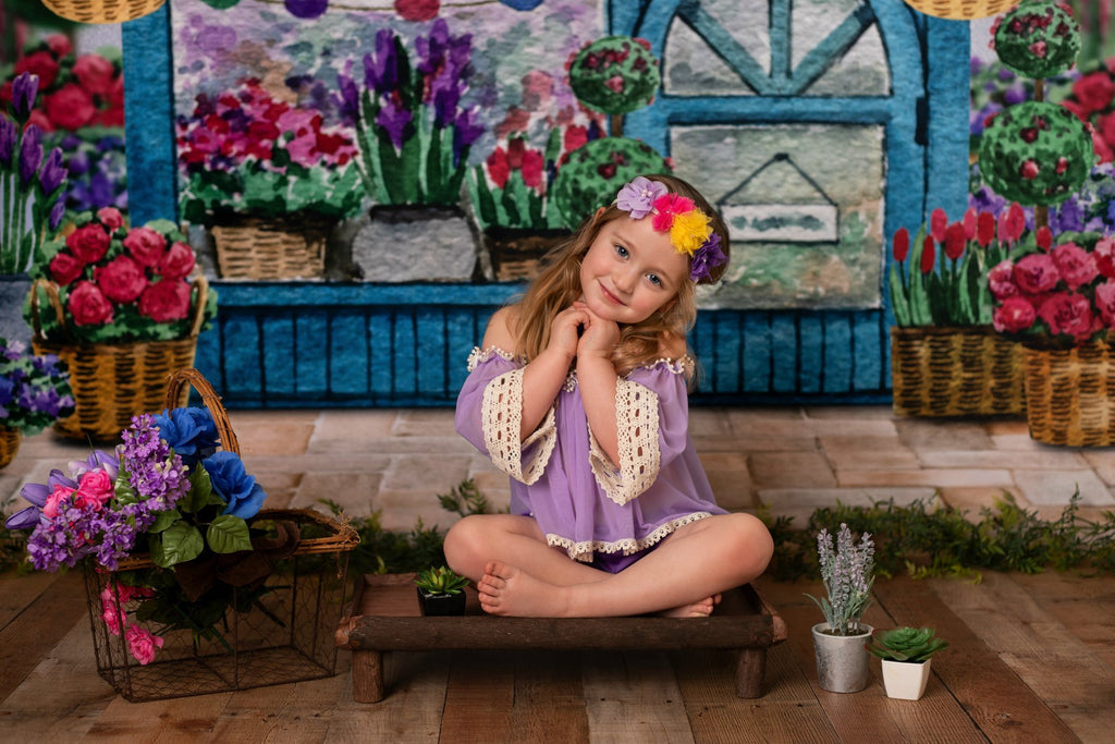 Kate Spring Flower Shop Backdrop Designed By Claire