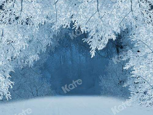 Kate Winter Snow Tree Wonderland Backdrop for Photography