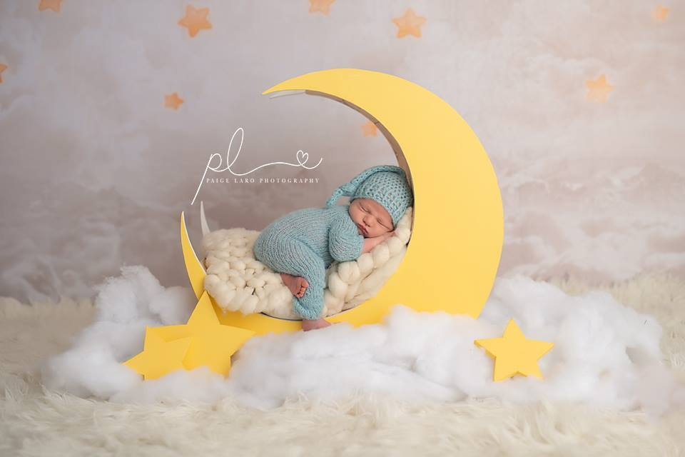 Load image into Gallery viewer, Kate Litter Sky Star Backdrop for Newborn Designed by Jerry_Sina