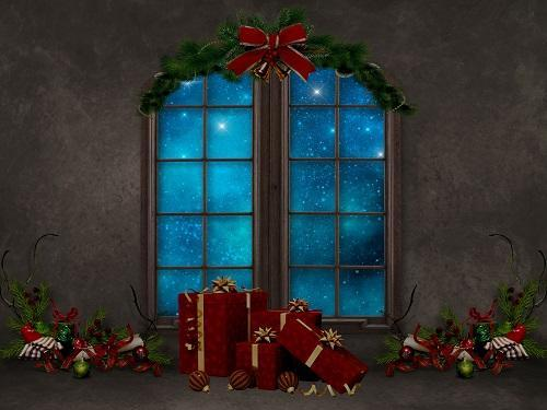 Load image into Gallery viewer, Kate Christmas Gifts Decoration Window Backdrop for Photography Designed By Jerry_Sina