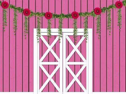 Kate Spring Pink Barnyard Flower Decoration Backdrop Designed By Jerry_Sina