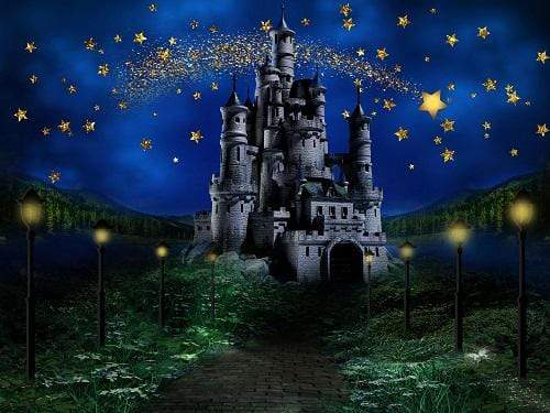 Kate Night Sky Star Castle Children Backdrop Designed by Jerry_Sina