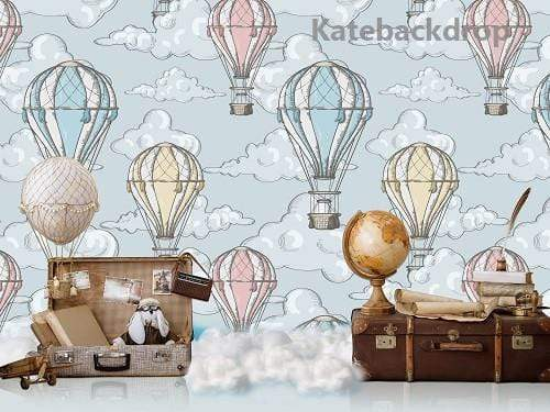 Load image into Gallery viewer, Kate Children Travel Around the World Spring Backdrop Designed By Jerry_Sina