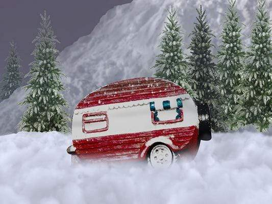 Kate Christmas Winter Snow Mini Bus Backdrop Designed By Jerry_Sina