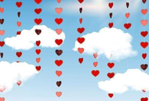 Kate Valentine's Day Heart in Sky Backdrop Designed By JFCC