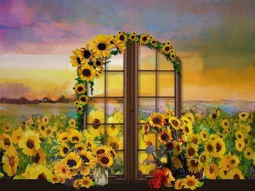 Kate Spring Sunflowers Field Backdrop Designed By JFCC