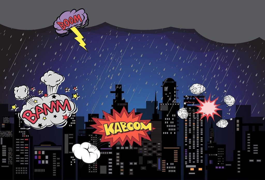 Katebackdrop£ºKate Boom super hero city night children backdrop